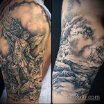Зачетный вариант готовой наколки Архангел Михаил – рисунок подойдет для архангел михаил тату на спине