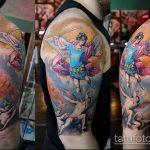 Уникальный вариант существующей татуировки Архангел Михаил – рисунок подойдет для тату архангела михаила с мечом