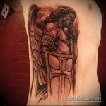 Интересный пример выполненной наколки Архангел Михаил – рисунок подойдет для архангел михаил тату на спине