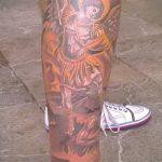 Оригинальный вариант существующей тату Архангел Михаил – рисунок подойдет для тату архангела михаила на плече