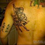 Классный вариант нанесенной татуировки Архангел Михаил – рисунок подойдет для архангел михаил тату на руке