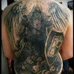 Уникальный пример готовой тату Архангел Михаил – рисунок подойдет для тату архангел михаил с мечом