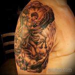 Зачетный вариант нанесенной наколки Архангел Михаил – рисунок подойдет для тату архангела михаила с мечом