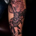 Зачетный пример существующей тату Архангел Михаил – рисунок подойдет для архангел михаил тату на руке