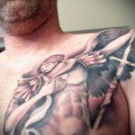 Прикольный пример нанесенной тату Архангел Михаил – рисунок подойдет для архангел михаил тату на руке