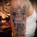 Уникальный пример выполненной наколки Архангел Михаил – рисунок подойдет для тату архангел михаил на руке эскизы