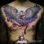 Крутой пример готовой тату аист – рисунок подойдет для тату аиста на руке