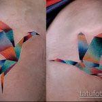 Оригинальный вариант существующей татуировки аист – рисунок подойдет для тату аист с младенцем