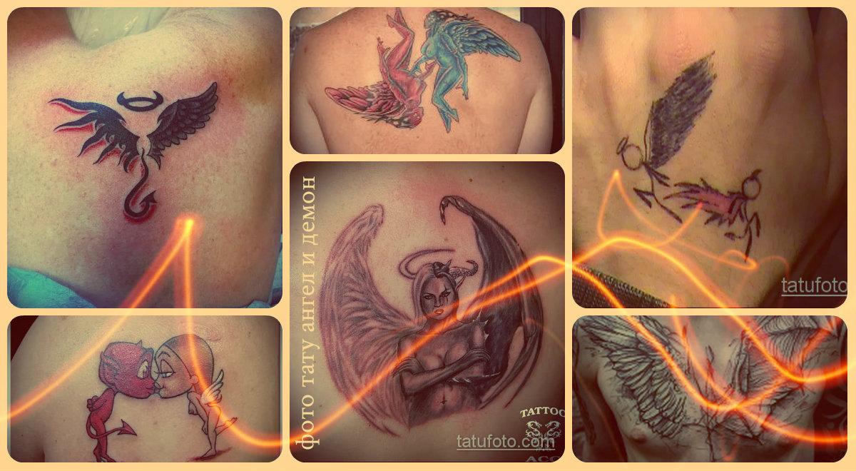 Фото тату ангел и демон - подборка интересных готовых татуировок с рисунком демона и ангела