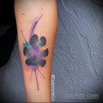 Прикольный вариант готовой тату анютины глазки – рисунок подойдет для тату анютины глазки на ноге