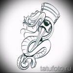 Оригинальный вариант тату эскиз змеи – можно использовать для змей картинка тату