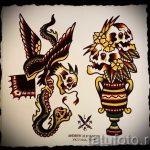 Достойный вариант тату эскиз змеи – можно использовать для тату змея рукав