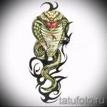 Интересный вариант тату эскиз змеи – можно использовать для тату змея с цветами