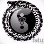 Уникальный вариант тату эскиз змеи – можно использовать для тату змей ноге