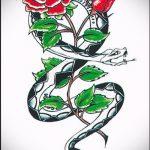 Оригинальный вариант тату эскиз змеи – можно использовать для тату змея олдскул