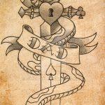 Уникальный вариант тату эскиз змеи – можно использовать для тату змея вокруг руки