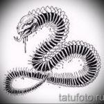 Уникальный вариант татуировки эскиз змеи – можно использовать для женские тату змея