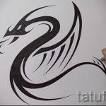 Стильный вариант тату эскиз змеи – можно использовать для тату меч и змея