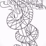 Достойный вариант татуировки эскиз змеи – можно использовать для тату змея акварель