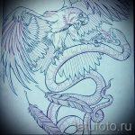 Стильный вариант татуировки эскиз змеи – можно использовать для тату змея вокруг руки