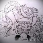 Классный вариант тату эскиз змеи – можно использовать для тату змея на лопатке