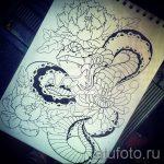 Интересный вариант тату эскиз змеи – можно использовать для тату змей плече