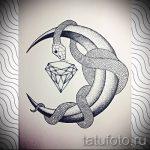 Уникальный вариант тату эскиз змеи – можно использовать для женские тату змея