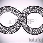 Интересный вариант тату эскиз змеи – можно использовать для тату змея на пальце