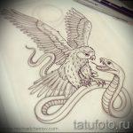 Уникальный вариант тату эскиз змеи – можно использовать для тату змей шее