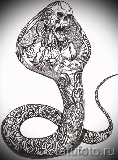 Змеи - 1 в тату эскизах Рисуем на заказ Фото