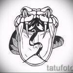 Уникальный вариант татуировки эскиз змеи – можно использовать для тату змея на кисти