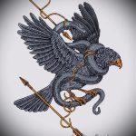 Стильный вариант татуировки эскиз змеи – можно использовать для тату змея акварель
