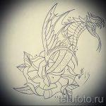 Оригинальный вариант тату эскиз змеи – можно использовать для тату змеи мужчин