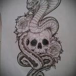 Уникальный вариант тату эскиз змеи – можно использовать для змей картинка тату