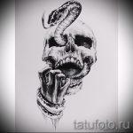 Достойный вариант татуировки эскиз змеи – можно использовать для тату змей шее
