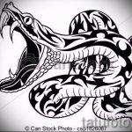 Достойный вариант тату эскиз змеи – можно использовать для тату змея на руке