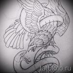 Оригинальный вариант татуировки эскиз змеи – можно использовать для тату змея на кисти