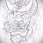 Оригинальный вариант татуировки эскиз змеи – можно использовать для тату змея на икре