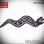 Достойный вариант татуировки эскиз змеи – можно использовать для тату змея на руке
