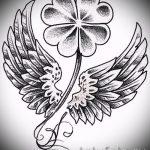 Классный вариант татуировки эскизы клевер – можно использовать для тату листок клевера