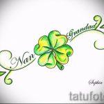 Стильный вариант татуировки эскизы клевер – можно использовать для тату клевер черное