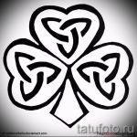 Уникальный вариант татуировки эскизы клевер – можно использовать для тату клевер черно белая