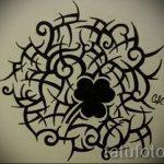 Интересный вариант татуировки эскизы клевер – можно использовать для тату клевер бесконечность