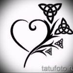 Достойный вариант тату эскизы клевер – можно использовать для тату клевер черное