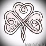 Классный вариант тату эскизы клевер – можно использовать для тату листок клевера