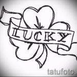 Классный вариант татуировки эскизы клевер – можно использовать для тату ласточка с клевером
