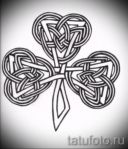 Ирландский Трилистник - фото тату