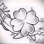 Прикольный вариант татуировки эскизы клевер – можно использовать для тату цветок клевера