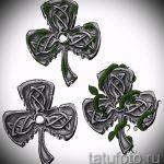 Уникальный вариант тату эскизы клевер – можно использовать для тату клевер четырехлистный подкова