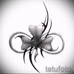 Оригинальный вариант тату эскизы клевер – можно использовать для тату девушек клевер